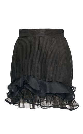 Medium isabel marant black black pleated organza vendel skirt