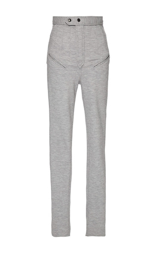 Grey Structured Melvil Leggings by ISABEL MARANT Now Available on Moda Operandi