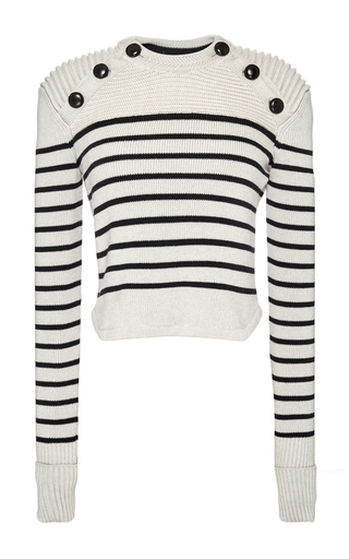 Medium isabel marant white knit hatfield pullover