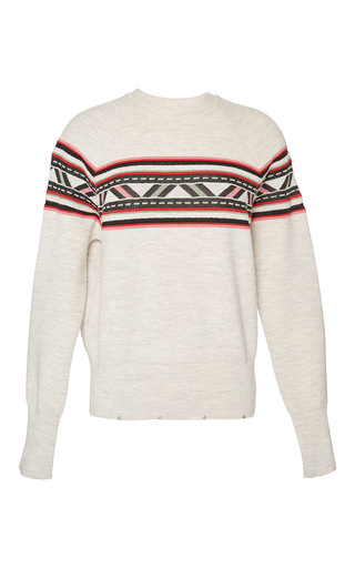 Medium isabel marant brown aspen knit blake pullover