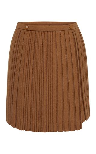 Medium marco de vincenzo brown heavy crepe pleated skirt