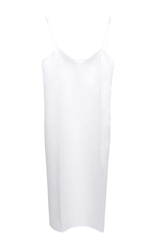 Medium nina ricci white white silk organza pleated slip dress