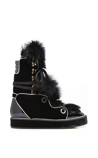 Medium nicholas kirkwood black polly neige snow boots