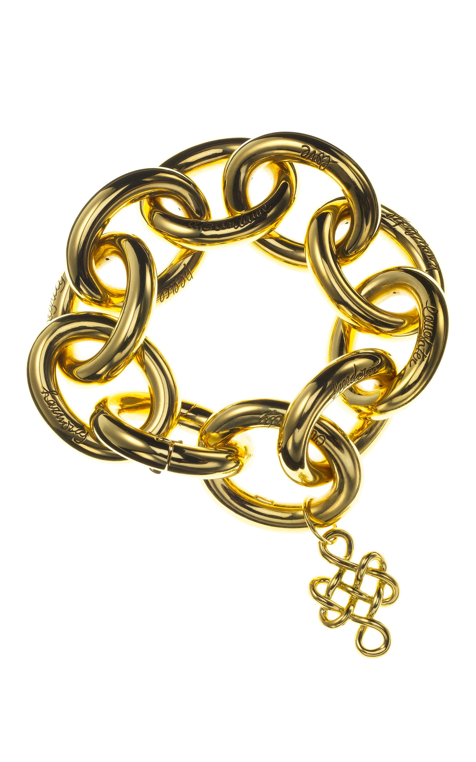 coil bracelet pin with gold vince stone large camuto square
