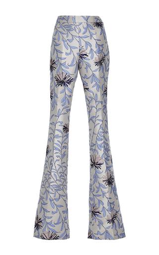 Medium giambattista valli print blue floral jacquard flared trouser