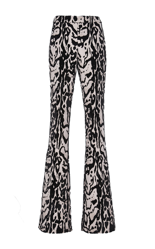 Medium giambattista valli print velvet jacquard flared trouser