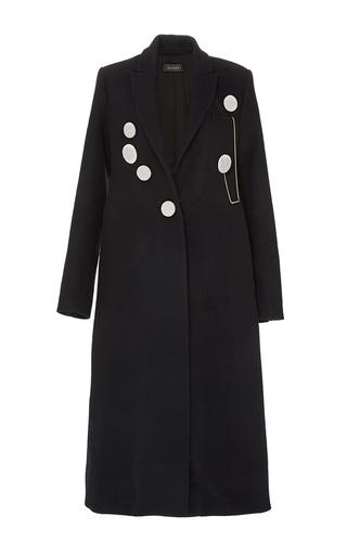 Medium ellery black sable star wool dress with back peplum