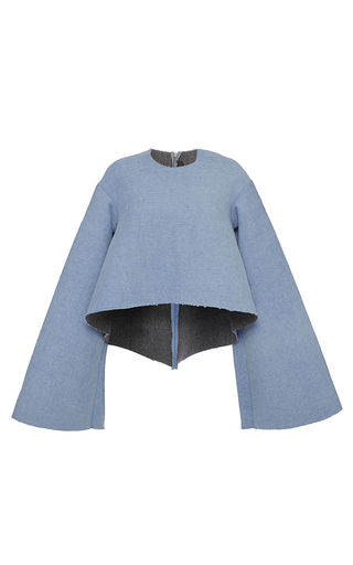 Blue Protege Wide Sleeve Cop Top by ELLERY Now Available on Moda Operandi