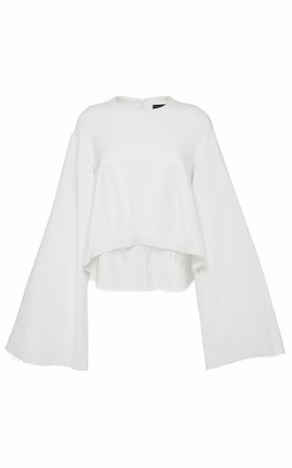 Medium ellery white creme protege wide sleeve cop top