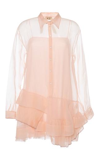 Medium no 21 pink silk organza alida dress