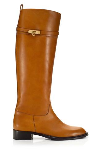 Medium salvatore ferragamo brown calipso riding boot