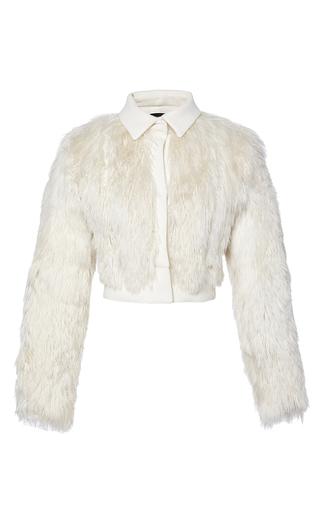 Medium giambattista valli white cropped alpaca jacket