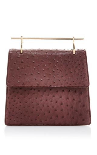 Medium m2malletier burgundy lac collectionneuse bordeaux ostrich shoulder bag