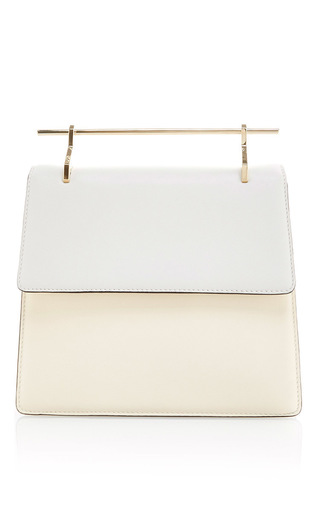 Medium m2malletier white lac collectionneuse shoulder bag in calf leather