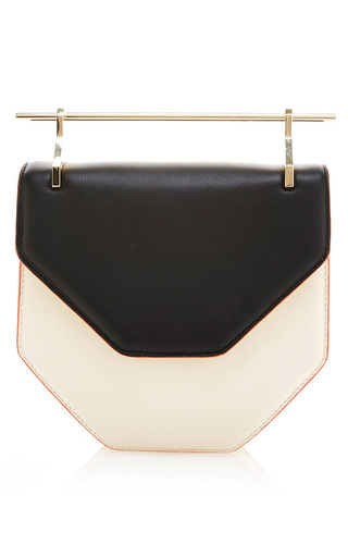 Medium m2malletier multi amor fati shoulder bag in black white calf leather