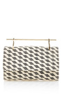 Fabricca Stripes Embroidery Clutch by M2MALLETIER Now Available on Moda Operandi