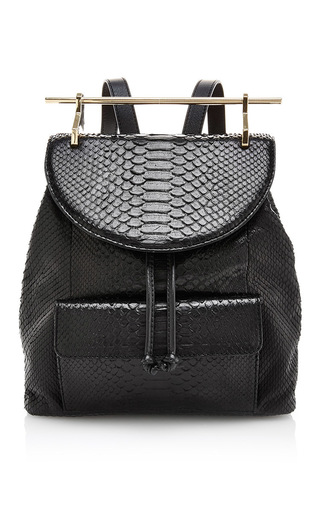 Medium m2malletier black python black backpack