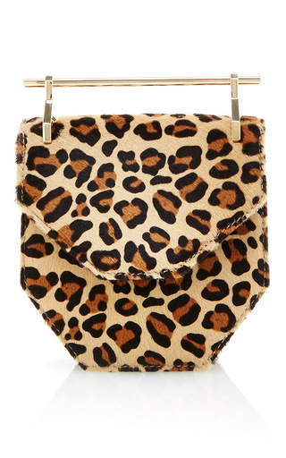 Medium m2malletier print mini armor fati small leopard pony shoulder bag