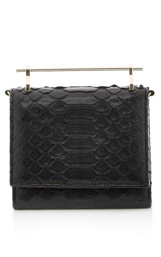 Medium m2malletier black black cabiria python wallet