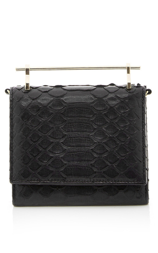 Medium m2malletier black black cabiria python wallet