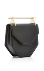Amor/Fati Cross Body Black Leather Bag by M2MALLETIER Now Available on Moda Operandi