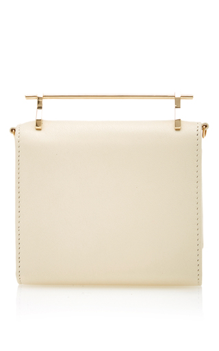 Cabria Leather Wallet In Ivory by M2MALLETIER Now Available on Moda Operandi