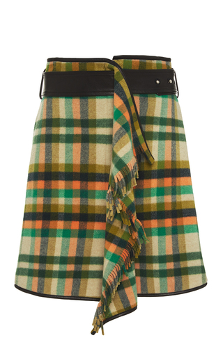 Medium rhie multi belted plaid wraparound skirt