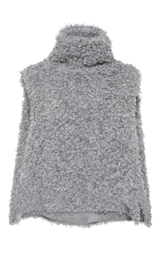 Medium vika gazinskaya dark grey faux fur vest
