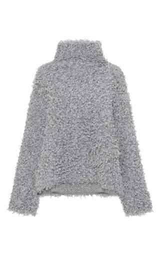 Medium vika gazinskaya dark grey faux fur sweatshirt