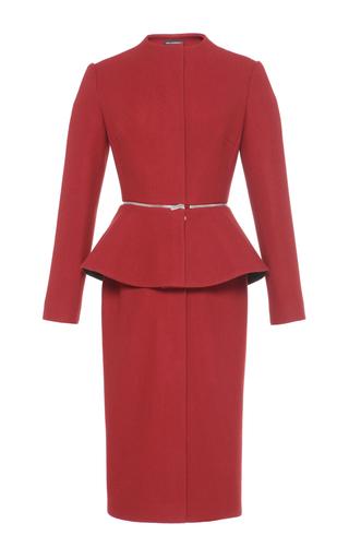 Medium vika gazinskaya red fitted peplum coat