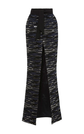 Medium martin grant blue long skirt with belt