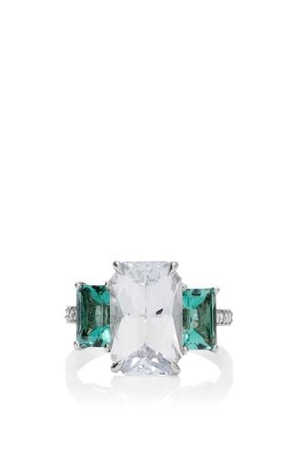 Medium paolo costagli multi one of a kind emerald cut white sapphire ring