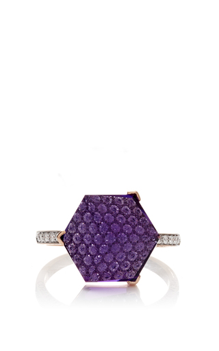 Medium paolo costagli purple brillante valentina amethyst ring