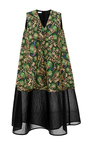Relief Effect Printed Jacquard Sleeveless Dress by DELPOZO Now Available on Moda Operandi