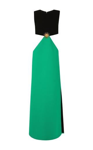 Medium fausto puglisi green wool column dress