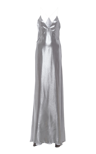 Medium galvan silver silver spaghetti strap dress