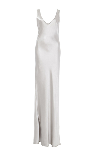 Medium galvan silver silver 90s silk slip dress