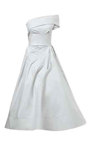 Medium maticevski blue existence dress in cotton blend