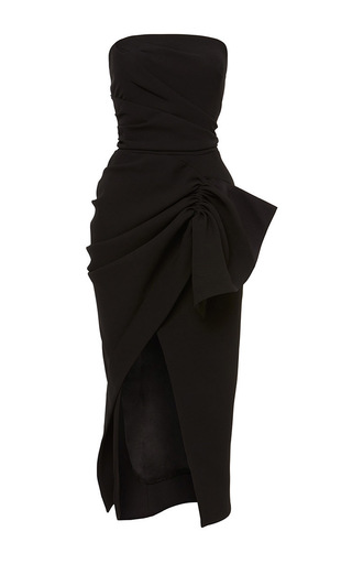 Medium maticevski black contoured strapless dress