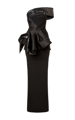 Medium maticevski black vigilante gown