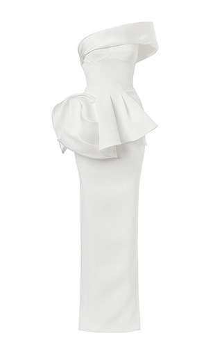 Medium maticevski white vigilante gown in white
