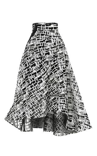 Medium maticevski print interval full skirt