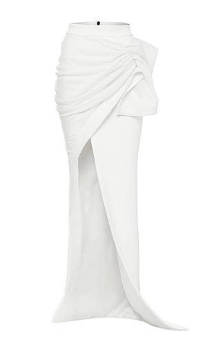 Medium maticevski white force longline skirt