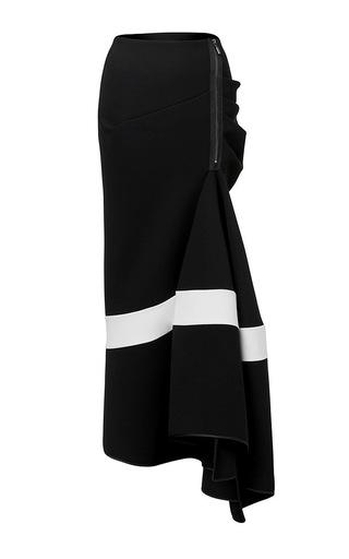 Medium maticevski black victory long line flute skirt in black