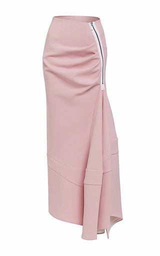 Medium maticevski pink victory long line flute skirt