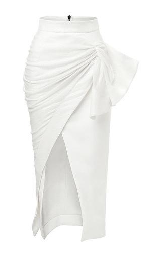 Medium maticevski white serene pencil skirt in sequin