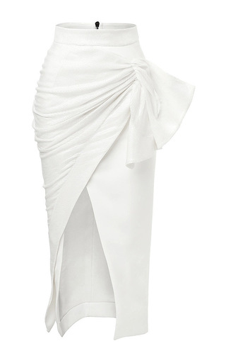 Medium maticevski white serene pencil skirt in sequin