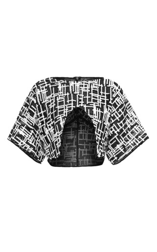 Medium maticevski print collision blouse