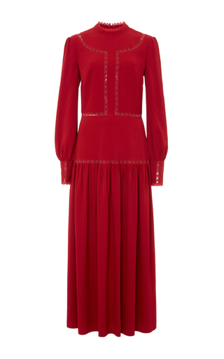 Medium vilshenko red lara heavy crepe dress