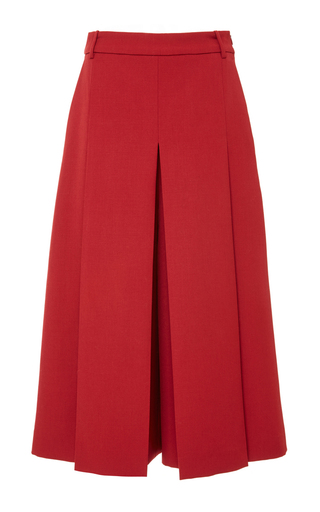 Medium vilshenko red lucy wool silk gabardine culotte